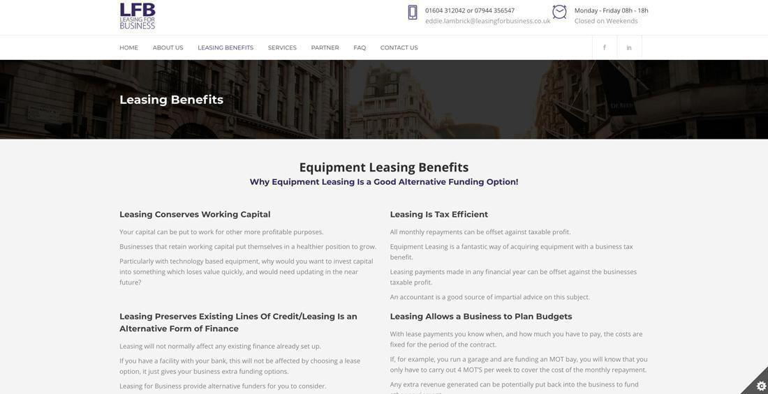 Northampton Business Website Design – Leasing For Business