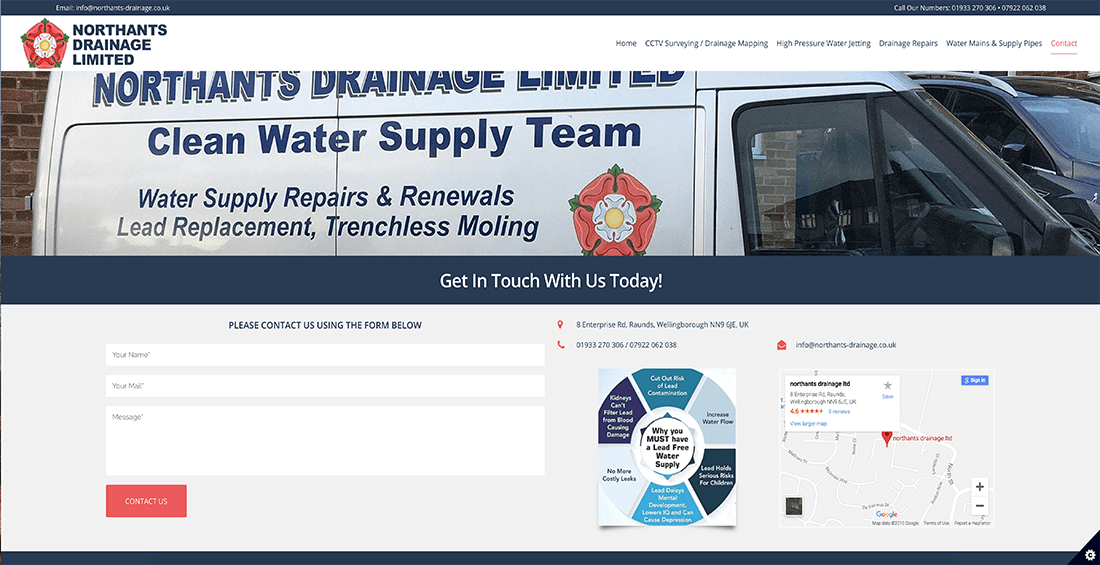 Raunds Website Design – Northants Drainage