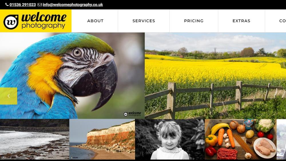 Welcome Photography Website Design