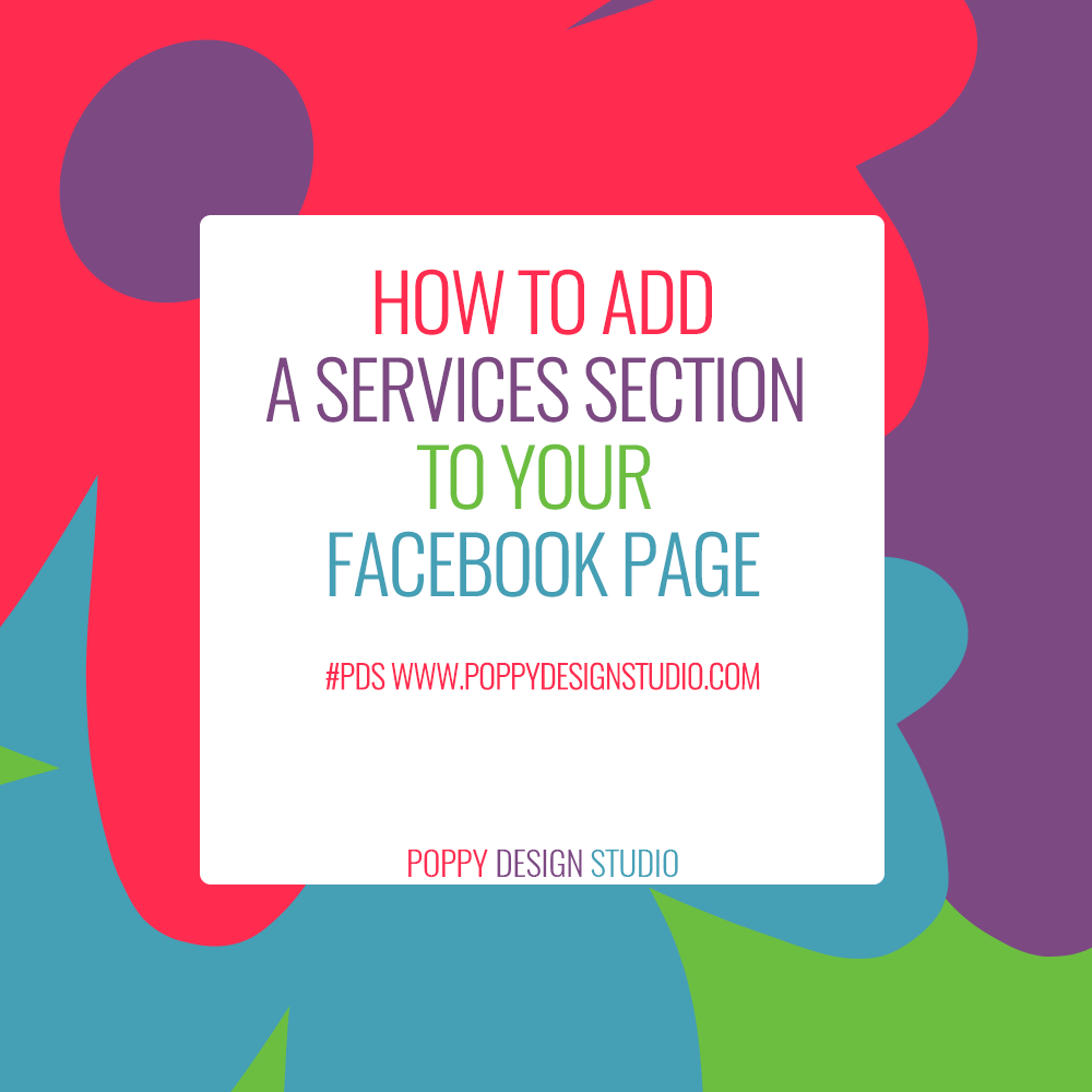 How to add a services section to your Facebook page