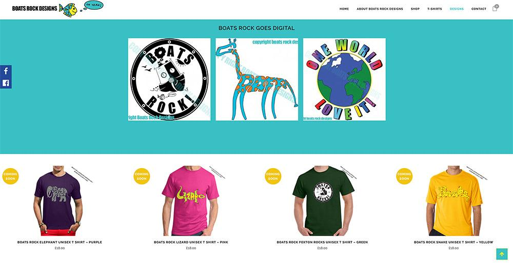 One Page Website Boats Rock Designs