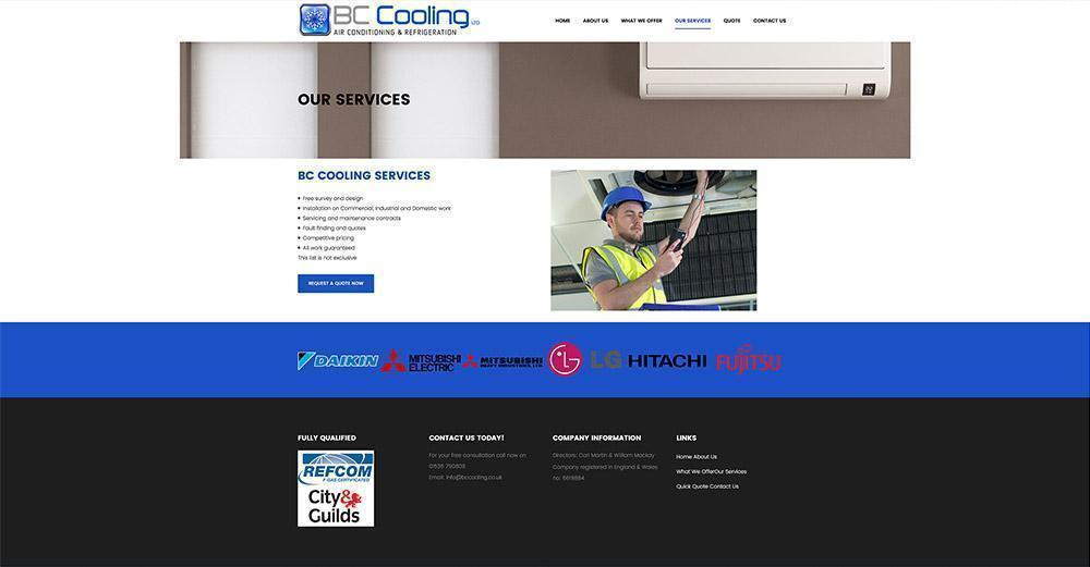 Business Website Design BC Cooling