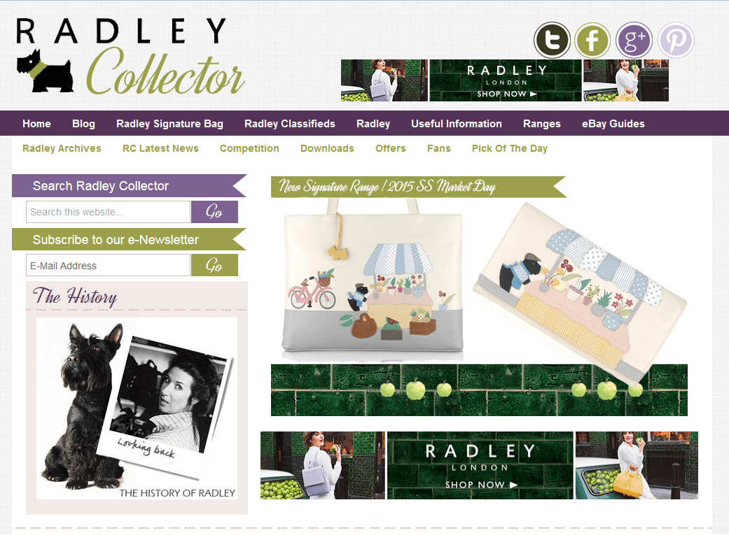 Website Creation Radley Collector