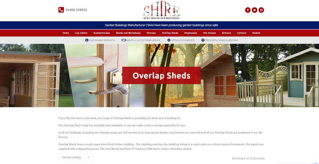E-Commerce Website Design - Shire GB