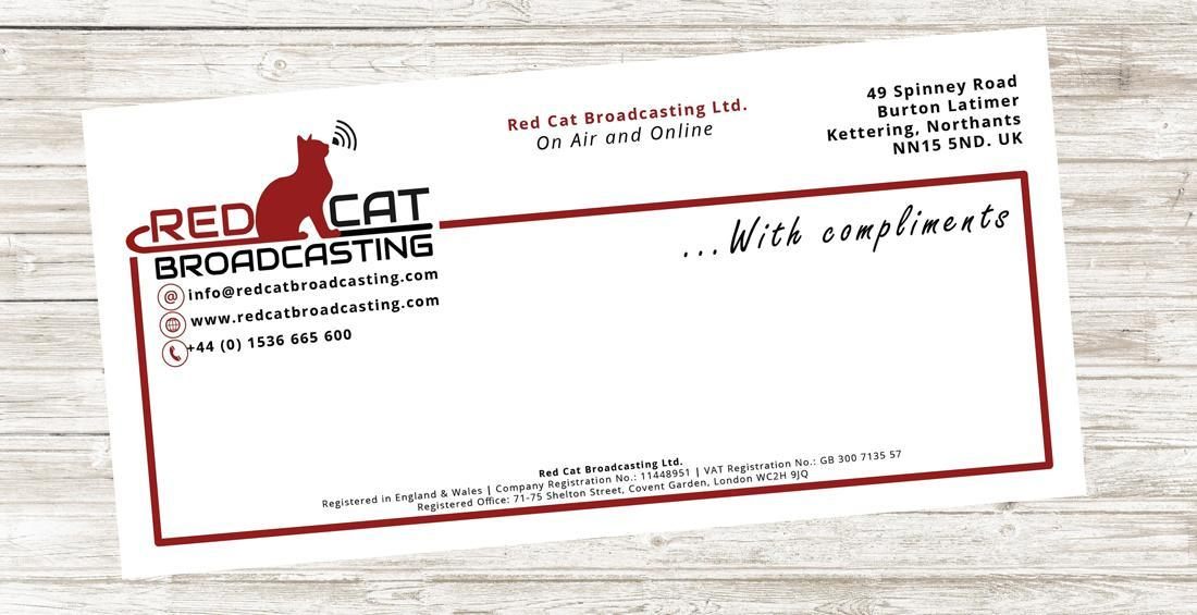 Red Cat Broadcasting - Compliment Slip & Print