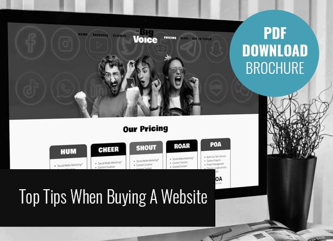 Top Tips When Buying A Website